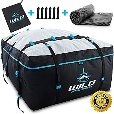 Rooftop Cargo Carrier Bag XXL - Waterproof 19 Cubic Ft Rooftop Cargo Bag - Roof Bag Works with OR Without Car Roof Rack - Overhead Luggage Storage Car Top Carrier for Camping, Travel and Road Trips: Automotive