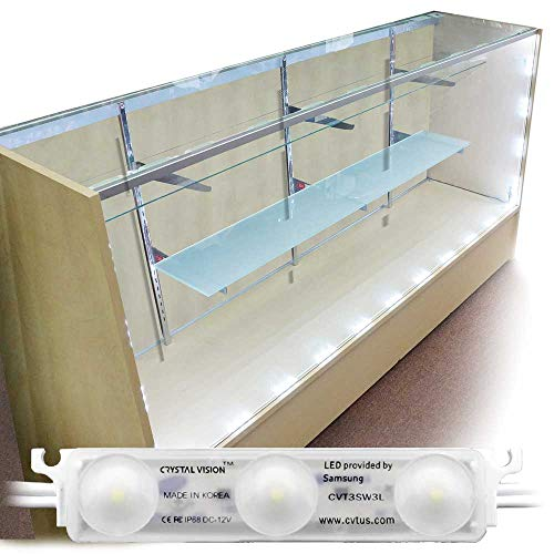 Showcase Vision - Crystal Vision Premium Samsung Pre-Installed LED Kit for Showcase, Display Case, Under Cabinet LED & Dressing Room Mirror - 12.5ft (W/Remote Controller)