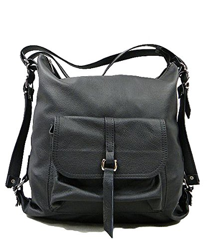 Handmade De Mujer De 2in1 Alhambra Leather Negro Genuino Mochila amp; Black Alhambra De La A Bolso Woman Hombro Model Bag Hecho Mano Shoulder Modelo amp; Cuero Backpack 2en1 Genuine tq1dtwWBE