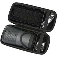 Khanka Travel Case For Bose SoundLink Revolve+ Bluetooth Speaker, Triple Black ( Fits Charging Cradle )