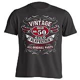 4Ink Vintage 50th Birthday Gift Shirt For Men Black Large