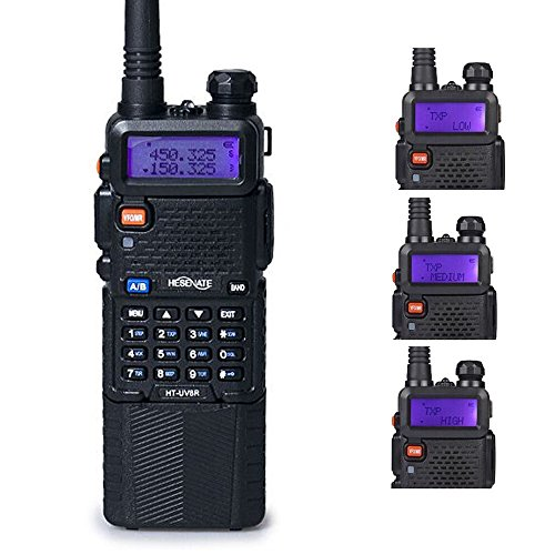 HESENATE HT-UV8R Plus High Power 8-Watt w/ 3800mAh Large Battery Two-way Radio Dual Band (2M/70CM) Tri-Power Handheld Transceiver Portable Walkie Talkies Long Range HAM Radio