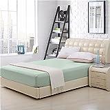 Elaine Karen 100% Cotton Fitted Bed Sheet - Full Size - Seafoam