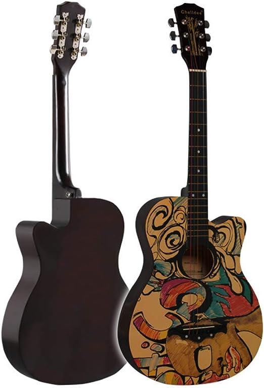 Sanqing Guitarra acústica, Guitarra de Madera para Principiantes ...