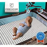 Pack N Play Crib Mattress Cover - Fits All Baby Portable Cribs, Play Yards, Playpen and Foldable Mattresses - Waterproof, Dryer Safe and Hypoallergenic - Soft and Comfy Play Pen Fitted Mattress Pad