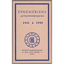 Broché - Ephémérides astronomiques chacornac 1941 à 1950