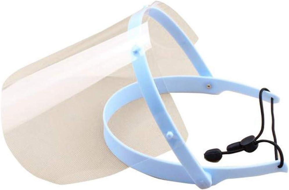 FBGood Pantalla Facial de Seguridad – Pantalla Facial Transparente Ajustable Ligera para Hombres Mujeres 1 Marco + 10 Escudos, A