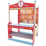 Bigjigs Toys Tienda de ultramarinos de madera - Juegos de simulación y juegos de rol