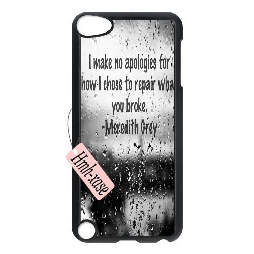 Cheap Plstic Case for iPod touch5 w/ Greys Anatomy image at Hmh-xase (style 2)