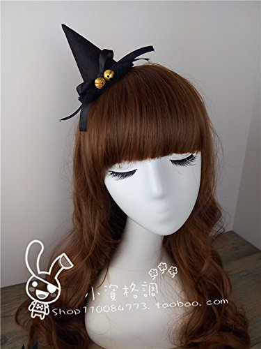 usongs diy Christmas clown hat black lace lace witch hat Halloween party hair bands hair accessories hairpin ()