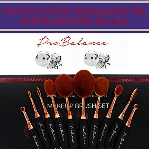 0325d8727404 New Profesional Pro Balance Soft Hair Oval Makeup Brush Sets ...