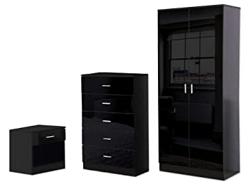 China Black High Gloss Bedroom Furniture Suppliers and ...