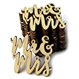 Togethluer Wooden Mr & Mrs Rustic Wedding Table Decoration,Confetti Scatter Decoration Crafts 15Pcs
