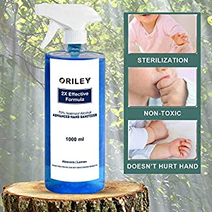 ORILEY Instant Hand Sanitizer 70% Isopropyl A...