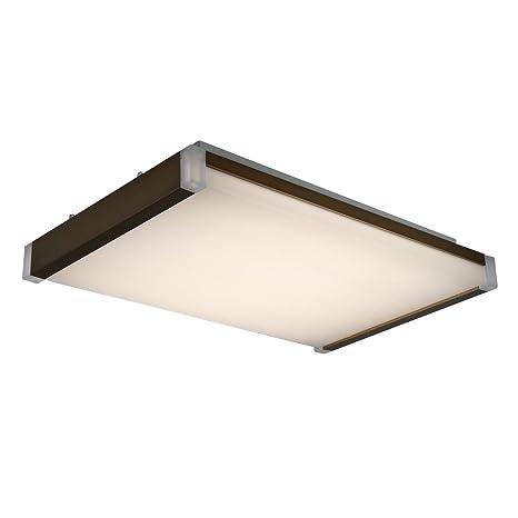 Lámpara de techo lámpara de pared LED Style Home 40 W I502 marrón de regulador con mando a distancia rectangular
