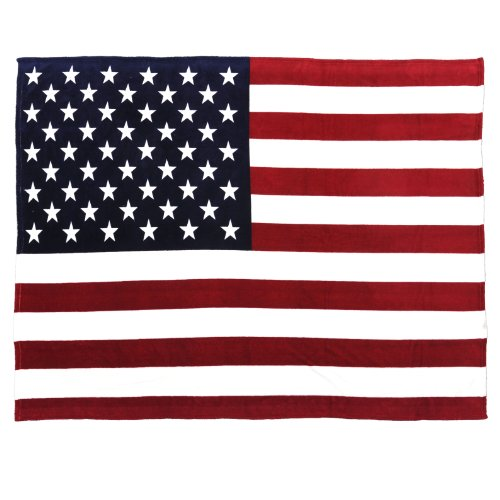 Oversized Usa Flag Fleece Throw Blanket  60 Inch X 80 Inch Red White Blue