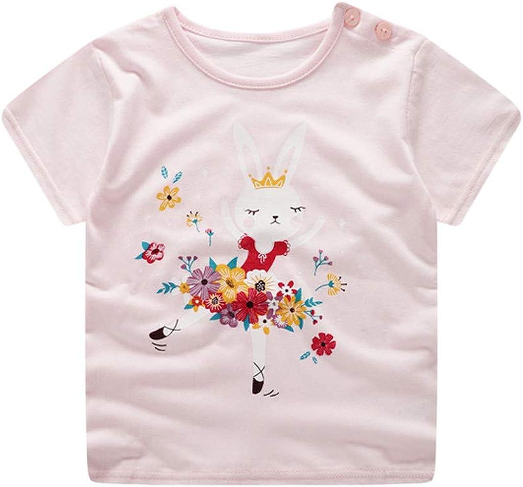 Cyhulu Little Boys Short Sleeve Cute Rabbit Print T-Shirts Flower Shorts Summer Beachwear Outfits 3M-3Y