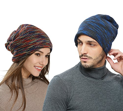 Pawya Winter Knit Beanie Thick, Soft, Warm Chuck Hats Unisex for Men and Women