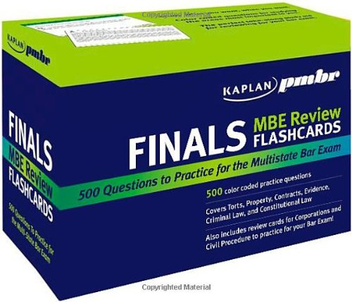 Mbe Review Flash Cards - Kaplan PMBR FINALS: MBE Review Flashcards