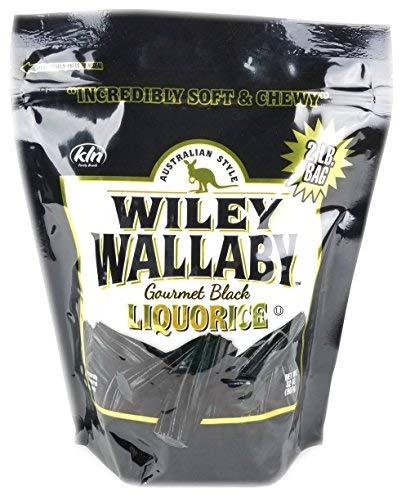 Wiley Wallaby Australian Gourmet Style Black Licorice Candy 32 Oz. 2 LB (Original Version) ()