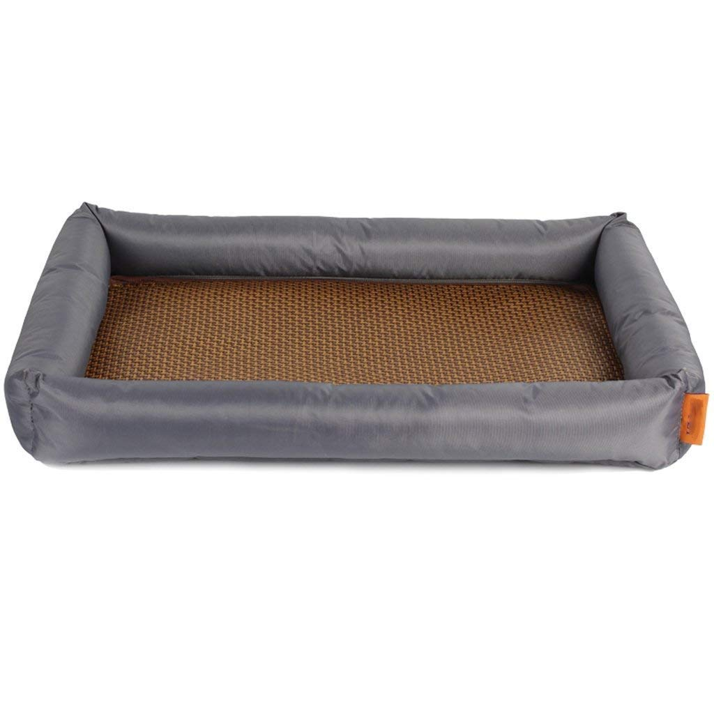 M Gorkuor Pet Summer PU cortical dog bed cat cat pet supplies Detachable and Washable Designed for Comfort bluee (Size   M)