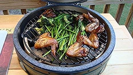 10 inch Dracarys BBQ 10 Griddling Wire Mesh Grille Porcelain Round Grill for Mini Big Green Egg and Other Same Size Kamado Joe Grill Grid Replacement Perfect for Grill