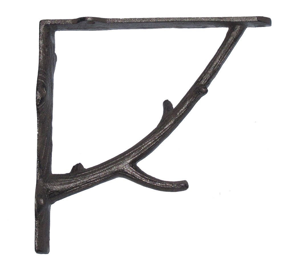 "NACH js-90-078 Branch Wall Shelf Bracket 7"". Pack of 2 (7x2x7.3 inches)"