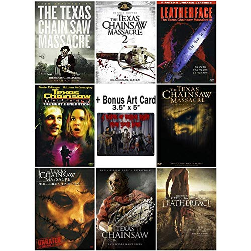 The Texas Chainsaw Massacre Ultimate Collection: Complete Horror Movie Series Franchise - Films 1-8 + Bonus Art Card ()