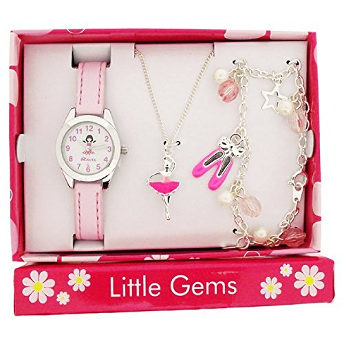Ravel Little Gems Kids Ballerina Watch & Jewellery Gift Set for Girls R2208 from Ravel