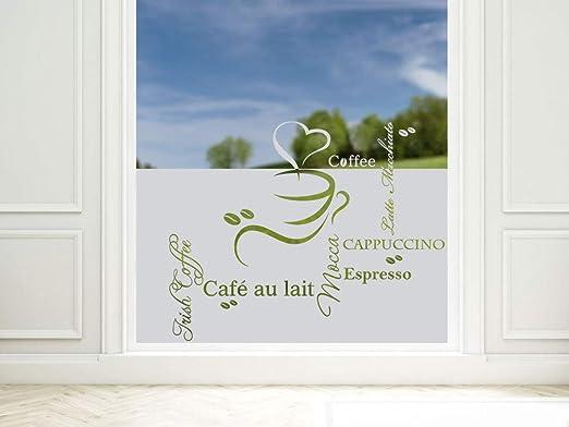GRAZDesign Sichtschutzfolie Küche Coffee Kaffee Espresso, Fensterfolie zur  Deko/Sichtschutz, Glasdekorfolie Blickdicht / 8x8cm