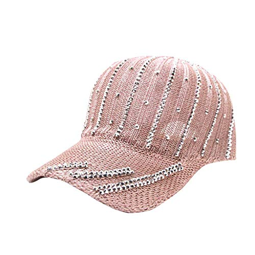 Excursion Sports Embroidered Baseball Cap for Women, Breathable Outdoor Sport Tennis, Golf, Traveling, Hiking Sun Protection Hat, Summer Adjustable Topee (Pink)