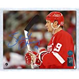 Steve Yzerman Detroit Red Wings Autographed Horizontal Close Up 16x20 Photo