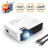 Azk Mini Video Projector, 50% Brighter 176'' Display Portable LED Projector,Home Theater Movie