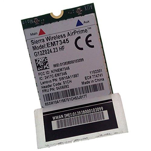 Seierra Wireless AirPrime EM7345 g12z024.05 for IBM/lenovo ThinkPad GOBI5000 Sierra LTE/HSPA+ 42Mbps M.2 Card 04x6014 T440 X240 X250 Wwan Hspa+ Evdo Ngff Card 4G LTE MOBILE