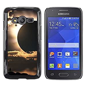 LECELL--Funda protectora / Cubierta / Piel For Samsung Galaxy Ace 4 G313 SM-G313F -- Sun Planets Sci-Fi Space Earth --