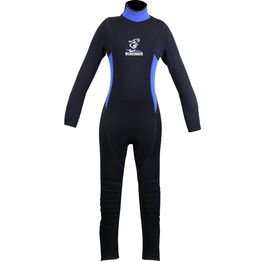 Kid's Youth Premium 3mm Child Wetsuit Good for Swim Surf Snorkel and Scuba Diving - Uv Protection (Blue, 12) by Seavenger