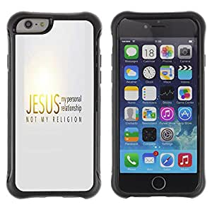 iDesign Rugged Armor Slim Protection Case Cover - JESUS = MY RELATIONSHIP - Apple Iphone 6