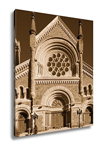 Ashley Canvas St Francis Xavier Catholic Church In Philadelphia USA, Kitchen Bedroom Living Room Art, Sepia 30x24, AG6485008 by Ashley Canvas