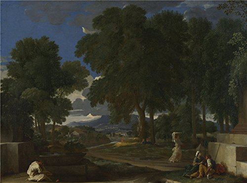 Oil Painting 'Nicolas Poussin Landscape  - Blossom Time Gravy Shopping Results