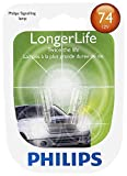 Philips 74 LongerLife Miniature Bulb, 2 Pack