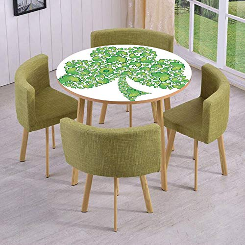 (iPrint Round Table/Wall/Floor Decal Strikers/Removable/Irish Shamrock Figure Made with Small Clover Patterns Holy Trinity Symbol Graphic/for Living Room/Kitchens/Office Decoration)