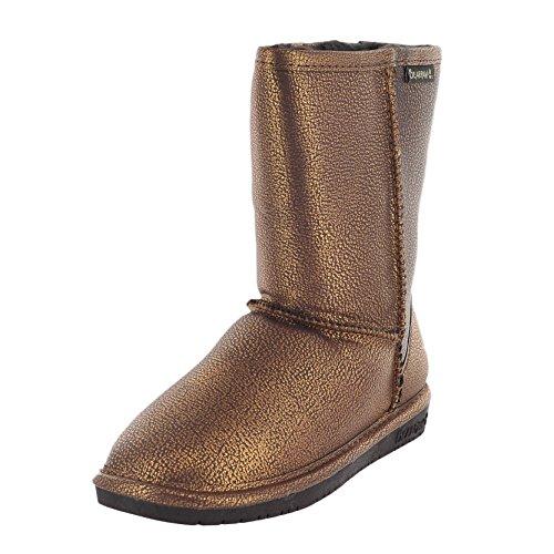 BEARPAW Women's Emma Short Boot,Chocolate/Bronze,7