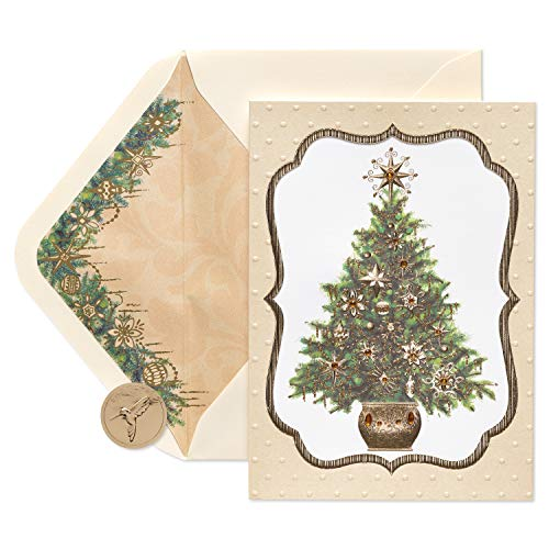 Papyrus Elegant Gem Christmas Tree Christmas Cards Boxed with Cream Envelopes, 8-Count ()