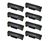 HI-VISION HI-YIELDS Compatible Toner Cartridge Replacement for HP CE285A ( Black , 10-Pack )
