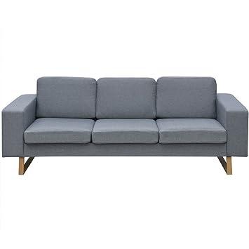 Festnight 3-Sitzer Sofa Stoff Polstersofa Loungesofa Couch Stoffsofa ...