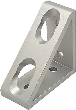 8020 Aluminum 4 Hole Inside Corner Gusset 15 Series Part 4334 ANO Dents E5-02