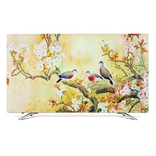 ZHAOFENGE-maotan Monitor Cover Fabric TV Display Protector Ink Landscape 3D Printing for Flat Screen TVs Smart TVs 32…