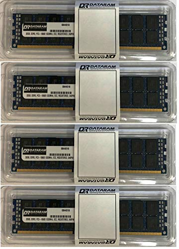 (DATARAM 128GB (4X32GB) DDR3 PC3-10600 1333mhZ ECC Memory Ram Upgrade Kit for The 2013 Mac Pro 6,1 )