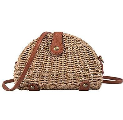 Amazon.com: AgrinTol - Bolso de playa para mujer, tejido ...