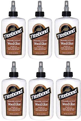 (6) bottles Franklin Titebond 6123 8 oz Translucent Wood Glue - Franklin Wood Glue